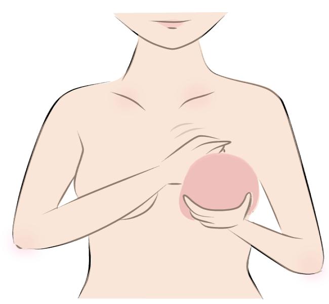 人工乳房を取り外していきます