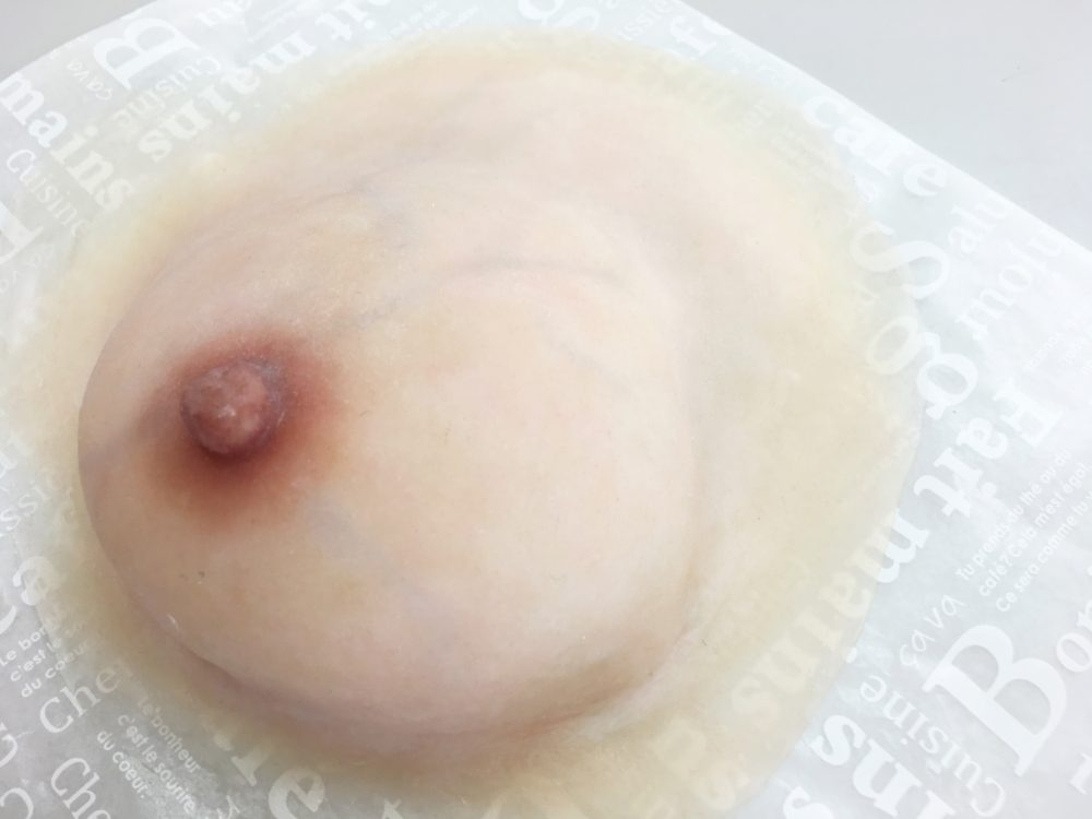 色付け着色した本物そっくりの人工乳房